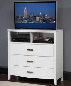 """Monet Glossy White 40.8""""L TV Chest"""