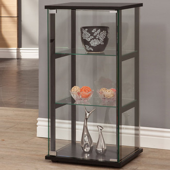 Gali 3-Shelf Curio with Glass Door