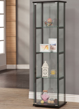 Gali 4-Shelf Curio with Glass Door