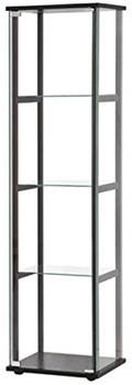 Gali 4-Shelf Curio with Glass Door
