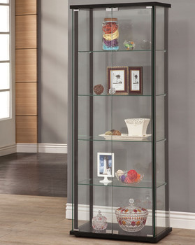 Gali 5-Shelf Curio with Glass Door