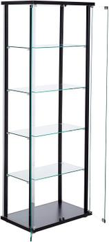 GALI 5-Shelf Curio with Glass Doors