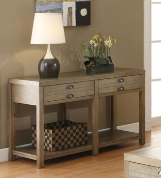 Audrina Driftwood Cottage Sofa Table