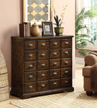 Rodney Antique Warm Brown Accent Cabinet