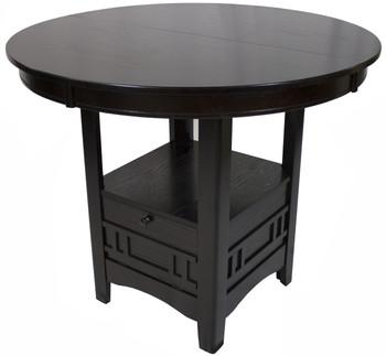 Kileen Dark Brown Storage Counter Table