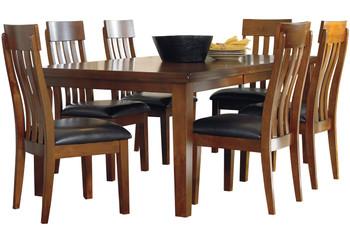 Nela Medium Brown 7 Piece Dining Set
