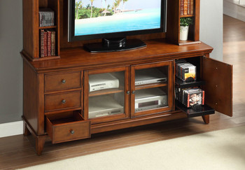 Clemencio Warm Cherry 2 Piece Wall Unit