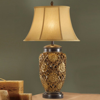 """Blossoms Bronze 33"""" Height Table Lamp"""