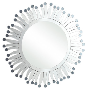 Pollen Sunburst Round Wall Mirror