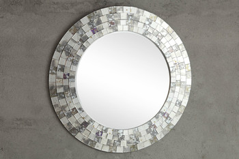 Senate Tile Round Wall Mirror
