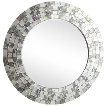 Senate Tile Round Wall Mirror