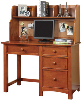 CONNIE 48'' Wide Valden Oak Desk with Corkboard