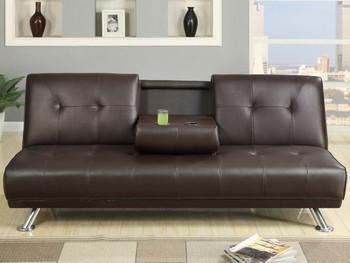 Nightowl Espresso Sofa Bed with Console