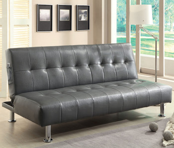 Slacker Gray Sofa Bed with Side Pocket