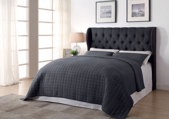 Suzete Charcoal California King Headboard