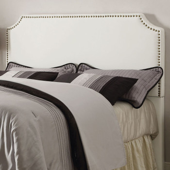 Natali White California King Headboard