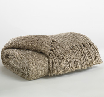 Caitlyn Taupe Decorative Throw