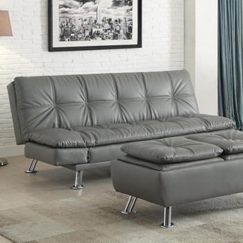 Odell Grey Leather Sofa Bed