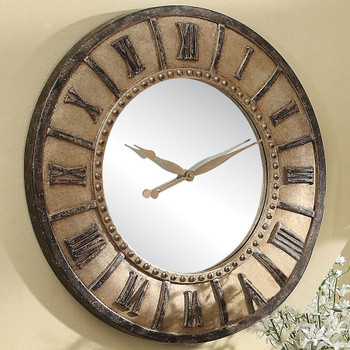 "Vilda Rusted 30"" Wall Clock"