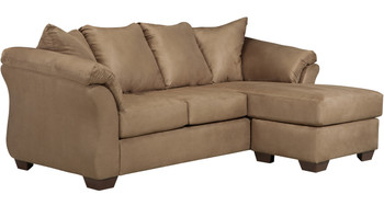 "EDELINE Mocha 89"" Wide Sofa Chaise"