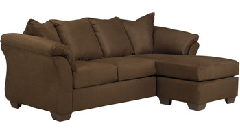 """EDELINE Cafe 89"""" Wide Sofa Chaise"""
