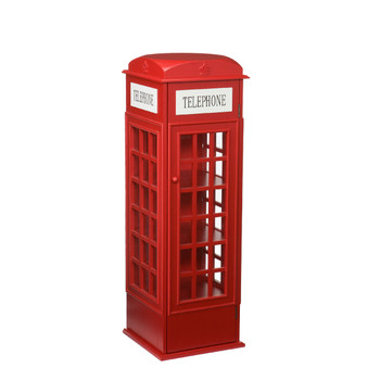 Telephone Booth Red Cabinet