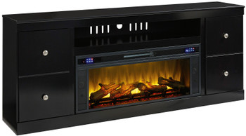 """DOMINIC 76"""" Wide  TV Stand with Fireplace"""