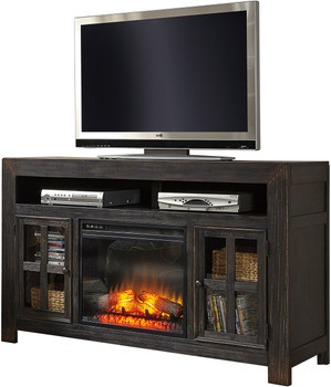 Corpus TV Stand with Fireplace