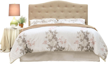 Midor Ivory Fabric Headboard
