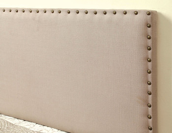 Abner Ivory Full & Queen Fabric Headboard