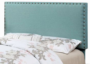 Abner Blue Full & Queen Fabric Headboard