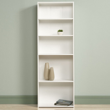 Origins White 5 Shelf Bookcase