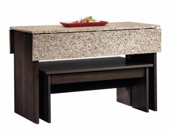 Origins Espresso Trestle Table with Benches