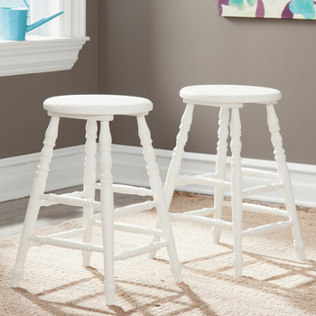 Cottage Beach White Bar Stool