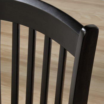 Cottage Lane Espresso Slat Chair
