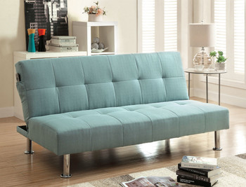 Midor Blue Fabric Sofa Bed