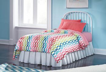 Ritzi Pink Metal Bedroom Set