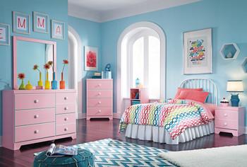 Ritzi Pink Dresser & Mirror