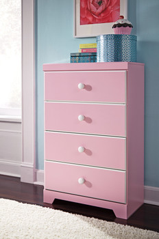Ritzi Pink Four-Drawer Chest