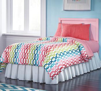Ritzi Pink Headboard Bedroom Set