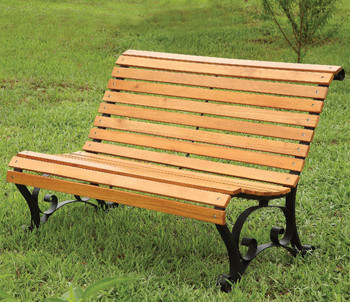 "Parkview 48"" Wide Oak Outdoor Bench"