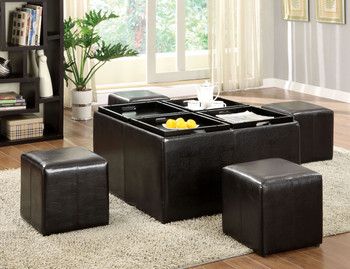 Jackie Ottoman With 4 Seat Stools