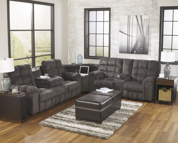 Dusky Gray Chenille Reclining Sectional