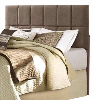 Abilene Brown Fabric Queen/Full Headboard