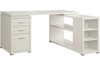 """MODERNA White 60"""" Wide Desk"""