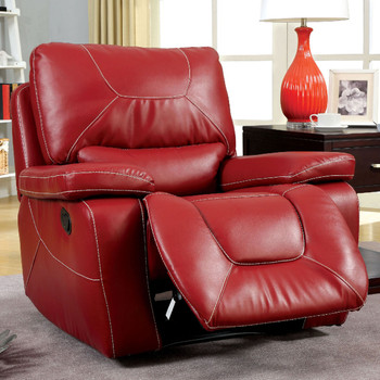 Helix Red Glider Recliner