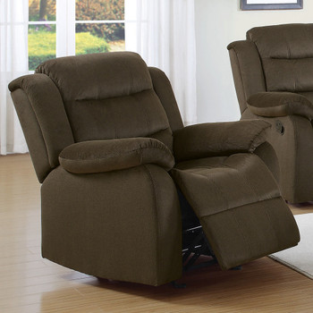 Gameday Chocolate Glider Recliner