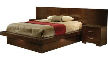 Andre Cappuccino Bedroom with Built-In Nightstands
