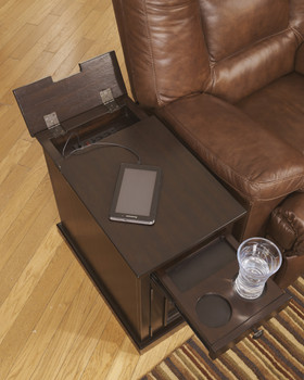Hadwin Sable Stained Power Chairside End Table