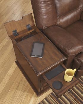 Hadwin Dark Brown Power Chairside End Table